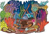 Sea coral — Stock Vector