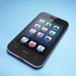 Beautiful highly-datailed black smartphone — Stock Photo