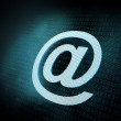 Pixeled email sign illustration — Stock Photo #11590561