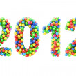 Royalty-Free Stock Photo: Colorful 2012 numbers on white
