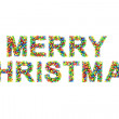 Stock Photo: Colorful MERRY CHRISTMAS on white