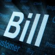 Pixeled word Bill on digital screen — Stock Photo #11593406