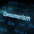 Pixeled word Consumerism on digital screen — Stock Photo