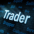 Pixeled word Trader on digital screen — Stock Photo #11593966