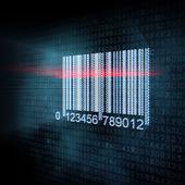 Pixeled barcode illustration — Stock Photo