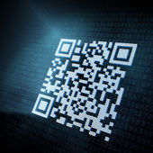 Pixeled QR code illustration — Stock Photo