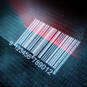 Ilustração de código de barras pixeled — Foto Stock