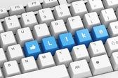 Mavi düğmeler gibi klavye — Stok fotoğraf