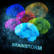 Brainstorm on digital screen — 图库照片