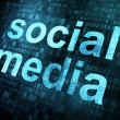 Social media on digital background - Stock Photo