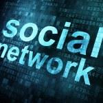 Social media on digital background — Stock Photo #11608507