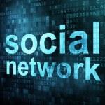 Social media on digital background — Stock Photo #11608537