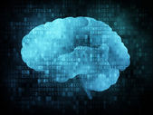 Gehirn auf dem digitalen Bildschirm — Stockfoto