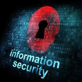 数字屏幕上的指纹和信息安全 — 图库照片