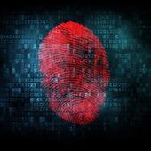 Fingerprint on digital screen — Stock Photo