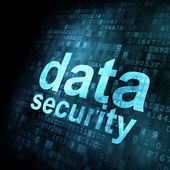 Security concept: Data on digital screen — Stock Photo