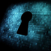 Security concept: Keyhole on digital screen — Stock Photo