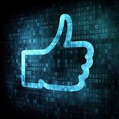 Like on digital screen — Stock Photo