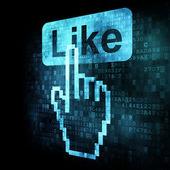 Like+Cursor on digital screen — Stock Photo