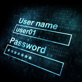 Security conceprt: Login form on digital sreen — Stock Photo