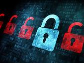 Security concept: Lock on digital screen — Stockfoto