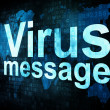 Royalty-Free Stock Photo: Marketing concept: pixelated words Virus message on digital scre