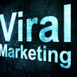 Marketing concept: pixelated words Viral Marketing on digital sc — Stock Photo