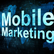 Marketing concept: pixelated words Mobile Marketing on digital s - Stock Photo