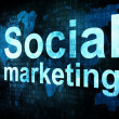 Marketing concept: pixelated words Social marketing sm on digita - Stock Photo