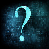Symbol of question mark on digital screen — Foto Stock
