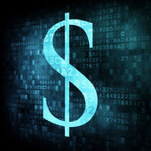 Dollar sign on digital screen — Stock Photo
