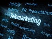 Pixeled word Telemarketing on digital screen — Stock Photo