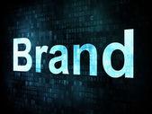маркетинговая концепция: pixelated слова бренда на цифровой экран — Стоковое фото