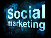 Marketing concept: pixelated words Social marketing sm on digita — Stock Photo