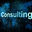Stock Photo: Business concept: pixelated words Consulting on digital screen