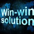 Business concept: pixelated words Win win solution — Stock Photo