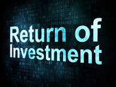 Business concept: pixelated words Return of Investment ROI — Stock Photo