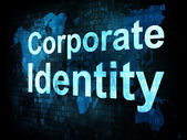 Business concept: pixelated words Corporate Identity — Stock Photo