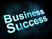 Business concept: pixelated words Business Success — Stock Photo