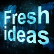 Brainstorm, thinking, idea concept: pixelated words Fresh ideas — 图库照片