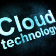 Information technology concept: pixelated words Cloud technology - Foto de Stock