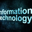 Information technology concept: pixelated words information - Stock Photo