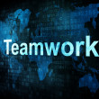 Job, work concept: pixelated words Teamwork — Stock Photo #11665162