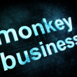 Job, work concept: pixelated words monkey business — Stock Photo