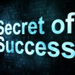 Life style concept: pixelated words Secret of Success — Stock Photo