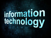 Information technology concept: pixelated words information — Stock Photo