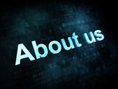 Information technology concept: pixelated words About us on digi — Foto de Stock