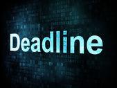 Job, work concept: pixelated words Deadline on digital screen — ストック写真