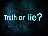 Life style concept: pixelated words Truth or lie — Stock Photo