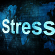 Stock Photo: Life style concept: pixelated words Stress on digital screen